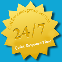 24/7 - Quick 15 minute response time! Call for emergency service